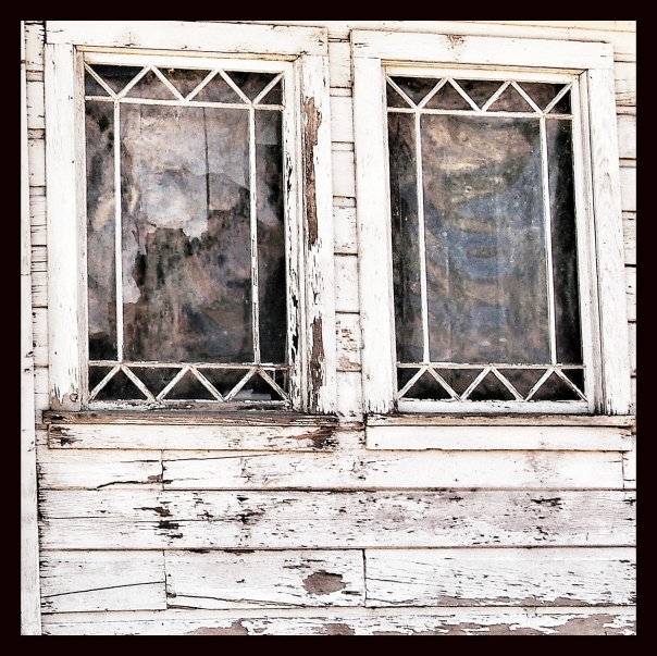 Virginia City Old Windows as FOUND ART.